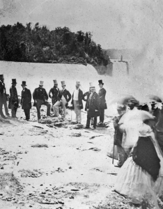 Prince of Wales and his contengient at Niagara Falls in 1860