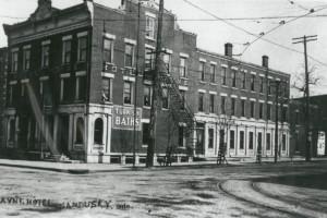 old brick building on street