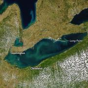 Sattelite image of Lake Erie